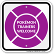 Pokémon Trainers Welcome Sign, Purple Poké Ball
