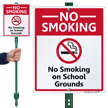 No Smoking On School Grounds Sign & Kit