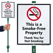 No Smoking LawnBoss® Sign & Stake Kit