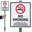 No Smoking Within 8 Feet Sign