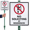 No Soliciting At Residences LawnBoss Sign