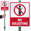 No Soliciting LawnBoss Sign