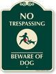 No Trespassing SignatureSign
