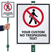 No Trespassing Custom LawnBoss Sign & Stake Kit