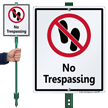 No Trespassing LawnBoss® Sign & Stake Kit