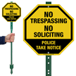 No Trespassing Police Take Notice LawnBoss Sign