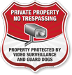 No Trespassing Video Surveillance Shield Sign