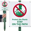 Keep Off Grass LawnBoss® Sign & Stake Kit