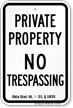 Oklahoma No Trespassing Sign