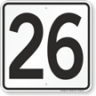 Parking Lot Number 26 Sign