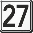 Parking Lot Number 27 Sign