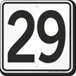 Parking Lot Number 29 Sign