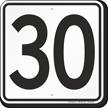 Parking Lot Number 30 Sign