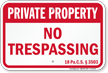 Pennsylvania Private Property Sign