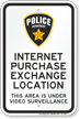 Police Department Area Under Video Surveillance Sign