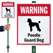 Warning Poodle Guard Dog LawnBoss™ Signs