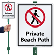 Private Beach Path LawnBoss Sign