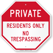 Private Gate Sign