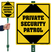 Private Security Patrol Lawnboss Sign & Stake Kit
