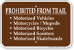 Prohibited From Trail Campground Sign