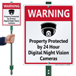 24 Hour Surveillance LawnBoss® Sign & Stake Kit