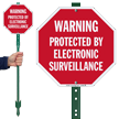 Protected By Electronic Surveillance Warning Sign