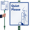 Quiet Please LawnBoss® Sign & Stake Kit