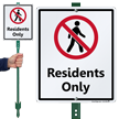 Residents Only LawnBoss Sign