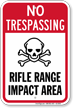 Rifle Range Impact Area No Trespassing Sign