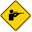 Shooting Range Diamond Caution Sign