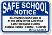 Visitors Must Sign In At Main Office Sign