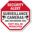 Security Alert Video Surveillance Sign