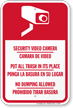 Security Video Camera Bilingual Sign