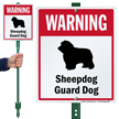 Warning Sheepdog Guard Dog LawnBoss™ Signs