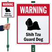 Warning Shih-Tzu Guard Dog LawnBoss™ Signs
