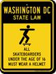 Skateboard Law Sign For Washington DC