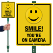 Smile You Are On Camera LawnBoss Sign