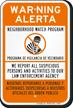 Bilingual Neighborhood Watch Program Sign