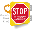 Double Sided 24 Hour Surveillance Sign