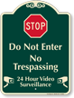 Stop Do Not Enter No Trespassing Sign