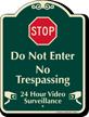 Stop Do Not Enter No Trespassing Sign