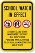 Students And Staff Immediately Report Sign