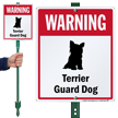 Warning Terrier Guard Dog LawnBoss™ Signs