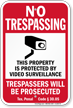 Texas Trespassers Will Be Prosecuted Sign