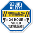 Trespassers Prosecuted Video Surveillance Security Sign