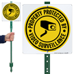 CCTV LawnBoss® Sign & Stake Kit