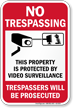 This Property Is Protected By Video Surveillance Sign