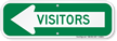 Visitors With Left Arrow Sign