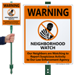 Warning Neighborhood Watch LawnBoss Sign