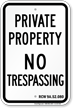 Washington No Trespassing Sign